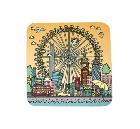 London Eye In Summer Coaster