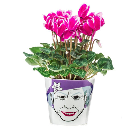 Queen Elizabeth II Ceramic Planter