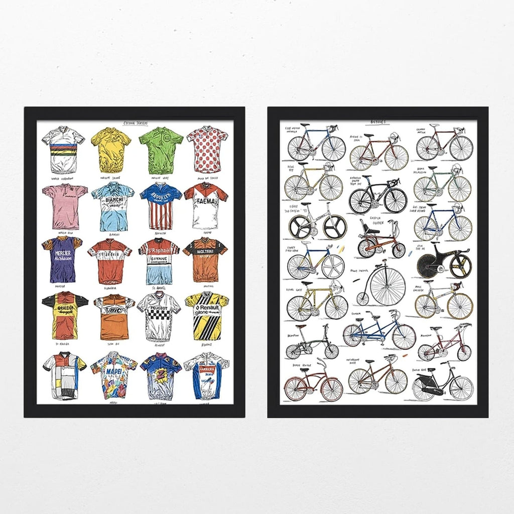 Bicycles + Cycling Jerseys - Set of 2 Art Lifestyle David Sparshott for We Built This City 1
