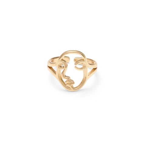 Gold Face Ring