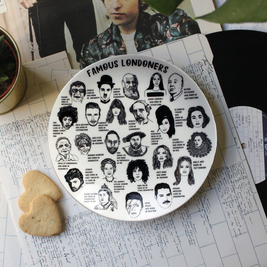 Famous Londoners Plate Ceramics - Plates House of Cally for We Built This City 2