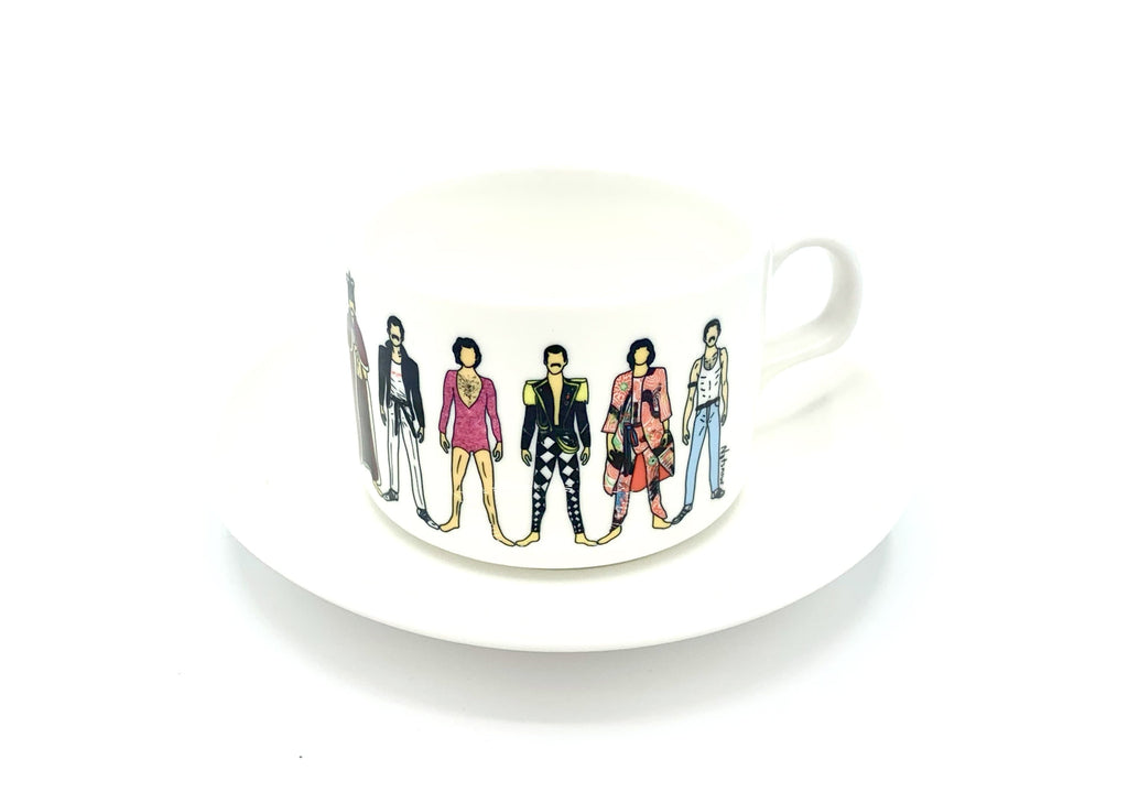 freddie mercury notsniw mug cup saucer queen for We Built This City 4