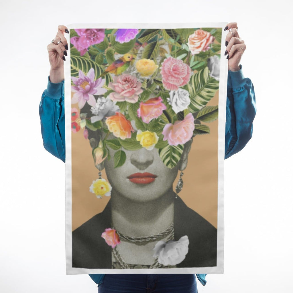 Frida Floral Teatowel (Orange)