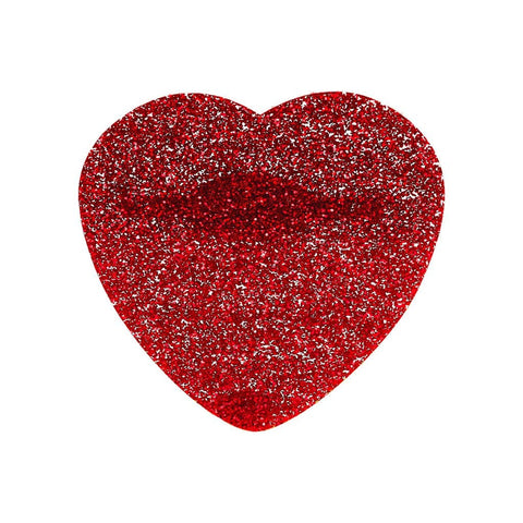 Glitter Heart Brooch