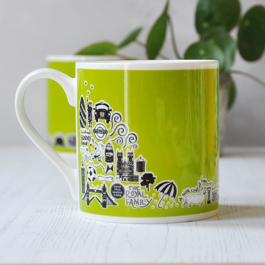 Green British Mug Ceramics - Drinking Vessels Martha Mitchell for We Built This City 2