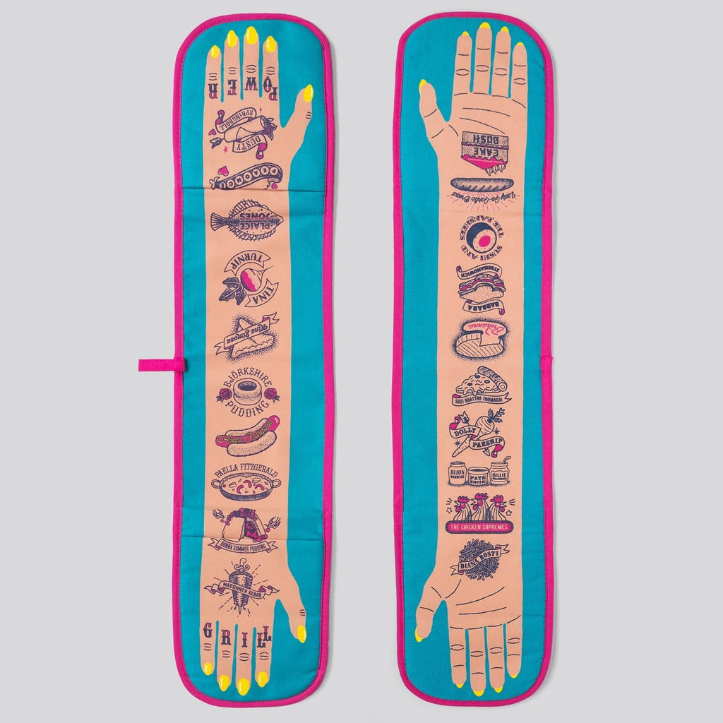 Grill Power Tattoo Double Oven Glove