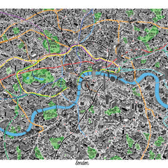 Hand Drawn Map of London Art Map Jenni Sparks for We Built This City 2
