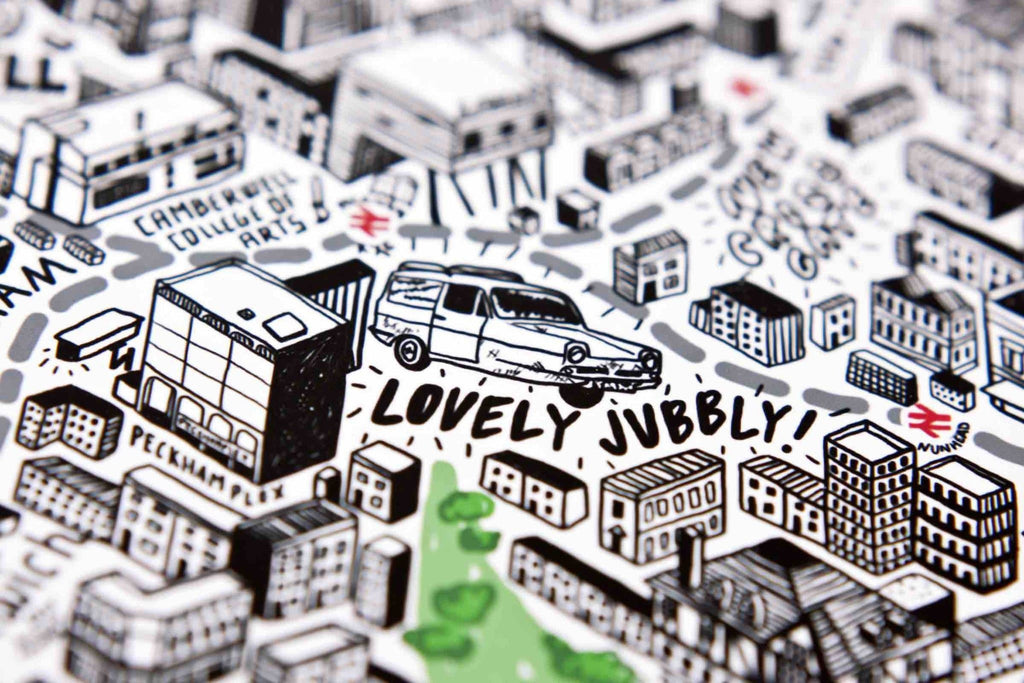 Hand Drawn Map of London Art Map Jenni Sparks for We Built This City 3