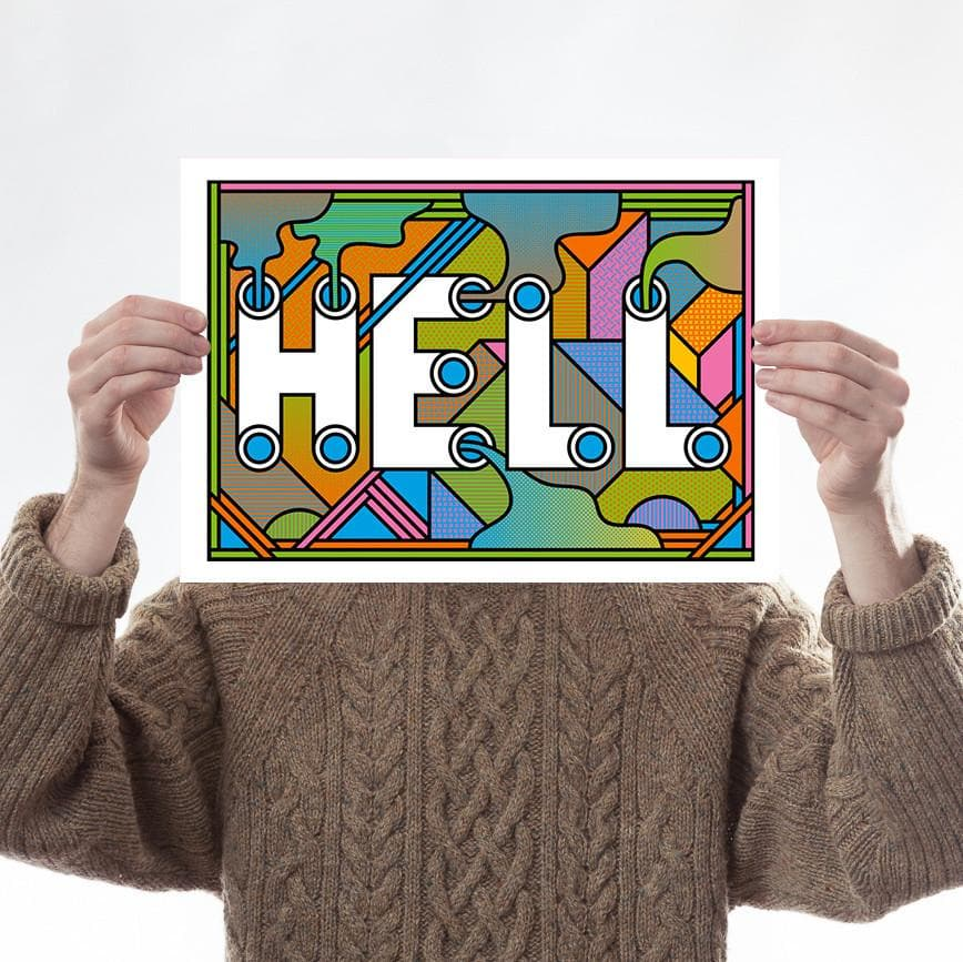 HELL Art Typography Supermundane for We Built This City 1