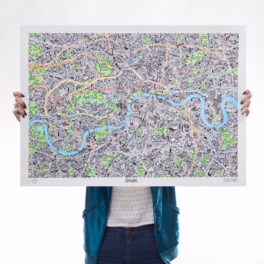 Hand Drawn Map of London