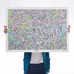 Hand Drawn Map of London Art Map Jenni Sparks for We Built This City 1