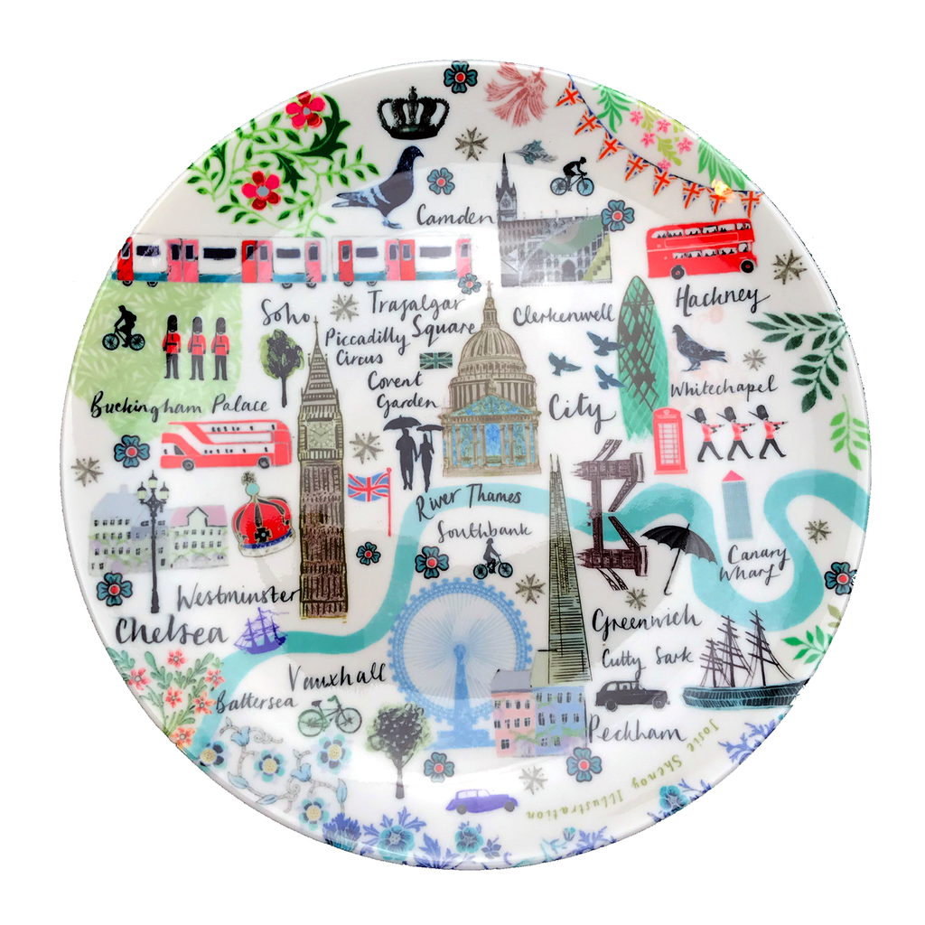 Josie Shenoy Map Plate Ceramics - Plates Josie Shenoy Illustration for We Built This City 1
