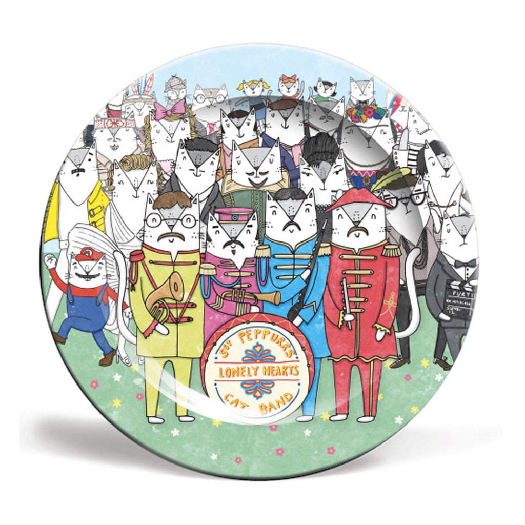 sgt pepper cats plate beatles 8 10 inch for We Built This City 1