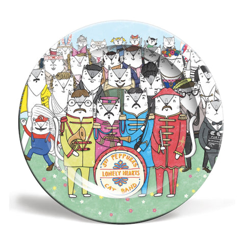 sgt pepper cats plate beatles 8 10 inch