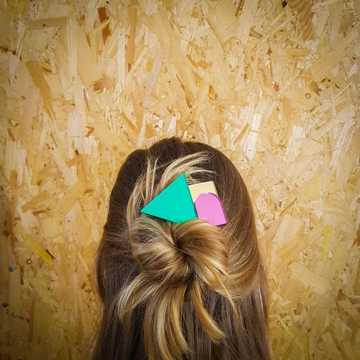 Geometric Hair Slide Jewellery - Hair Accessories Fizz Goes Pop for We Built This City 3