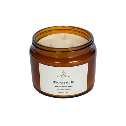 Smoke and Musk Soy Wax Candle - 500ml