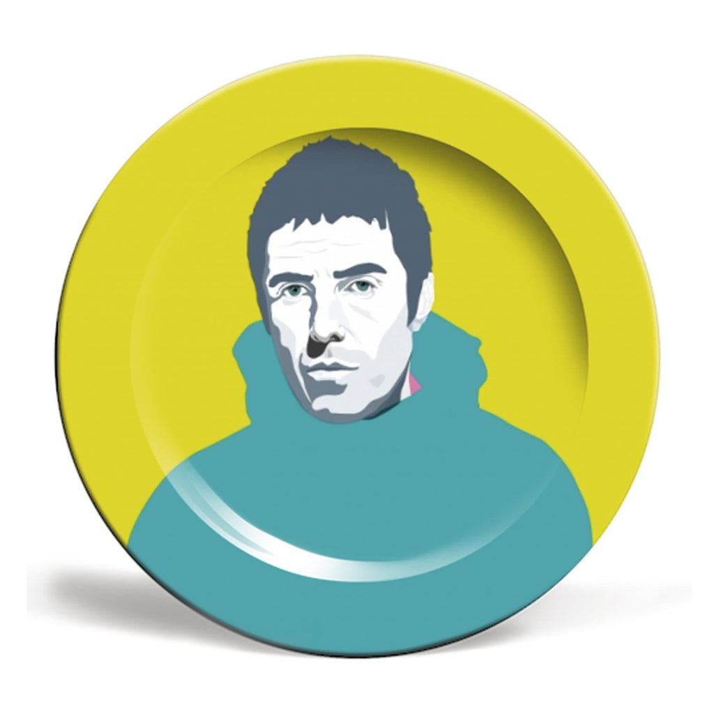 Liam Gallagher Oasis Plate Green Pop Art