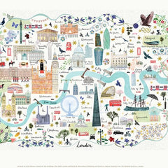 London Floral City Map A4 Art Commission Josie Shenoy Illustration for We Built This City 2