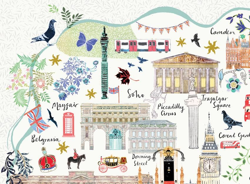 London Floral City Map A3 Art Commission Josie Shenoy Illustration for We Built This City 5