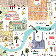 London Floral City Map A3 Art Commission Josie Shenoy Illustration for We Built This City 7