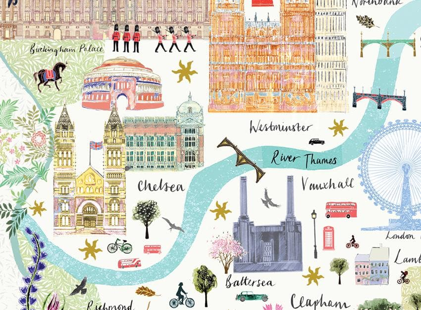 London Floral City Map A4 Art Commission Josie Shenoy Illustration for We Built This City 5