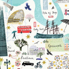 London Floral City Map A3 Art Commission Josie Shenoy Illustration for We Built This City 8