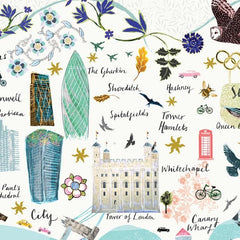 London Floral City Map A4 Art Commission Josie Shenoy Illustration for We Built This City 7