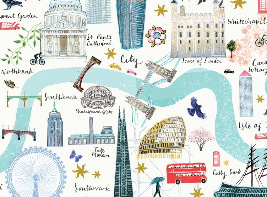 London Floral City Map A4 Art Commission Josie Shenoy Illustration for We Built This City 4