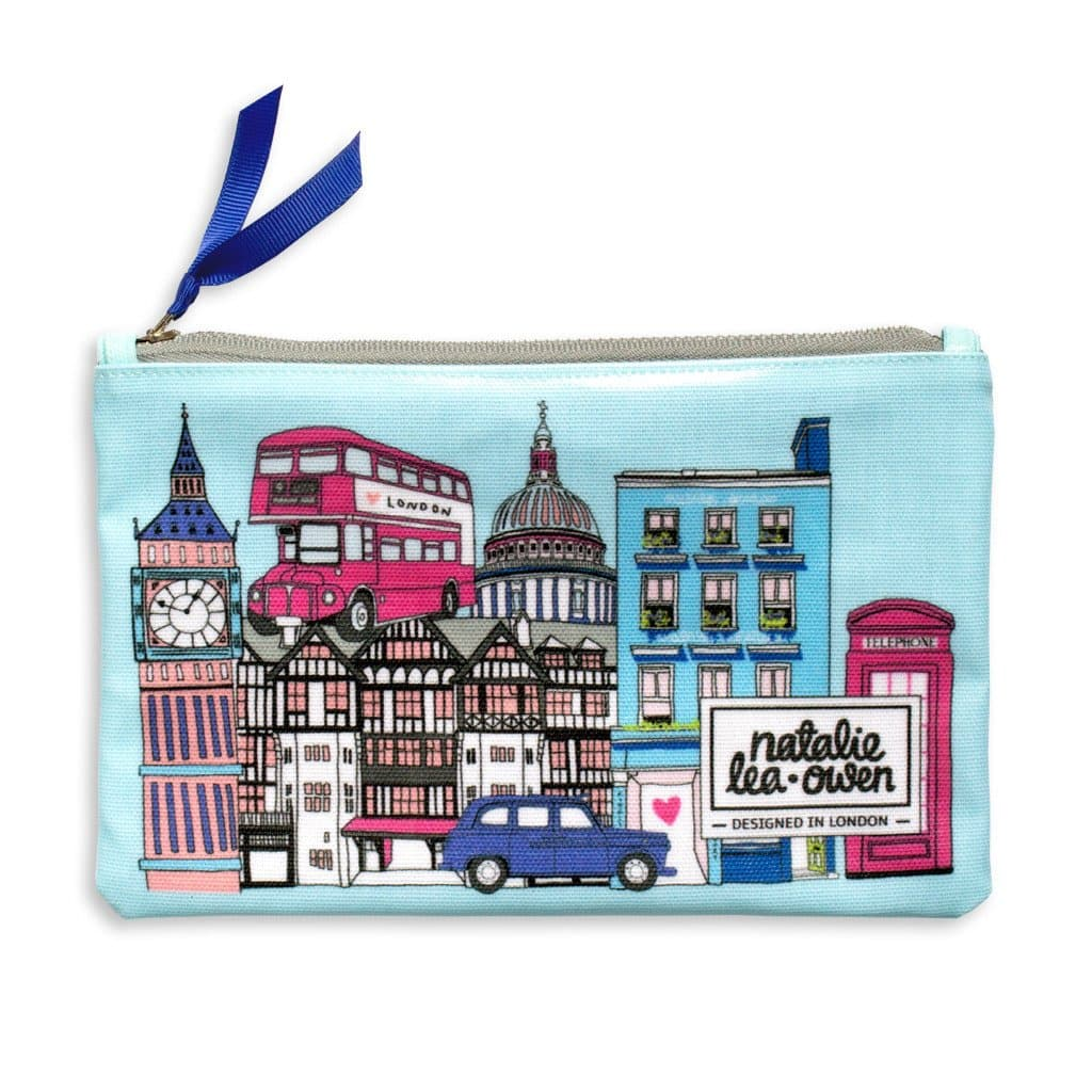 London Bus and Cityscape Pouch