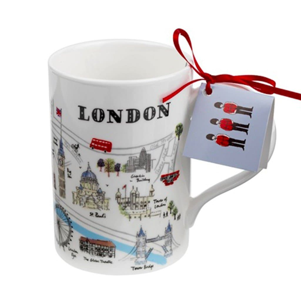 London Map Mug Ceramics - Drinking Vessels Alice Tait for We Built This City 1