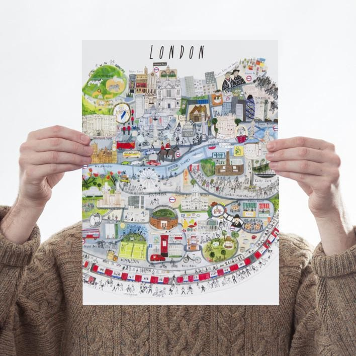 London Mapped Out Art Map Maisie Paradise Shearring for We Built This City 1