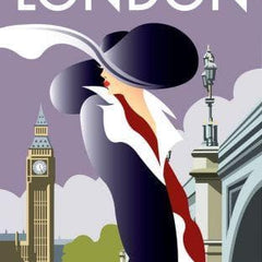 London Art Deco Woman Art Lifestyle Dave Thompson for We Built This City 2
