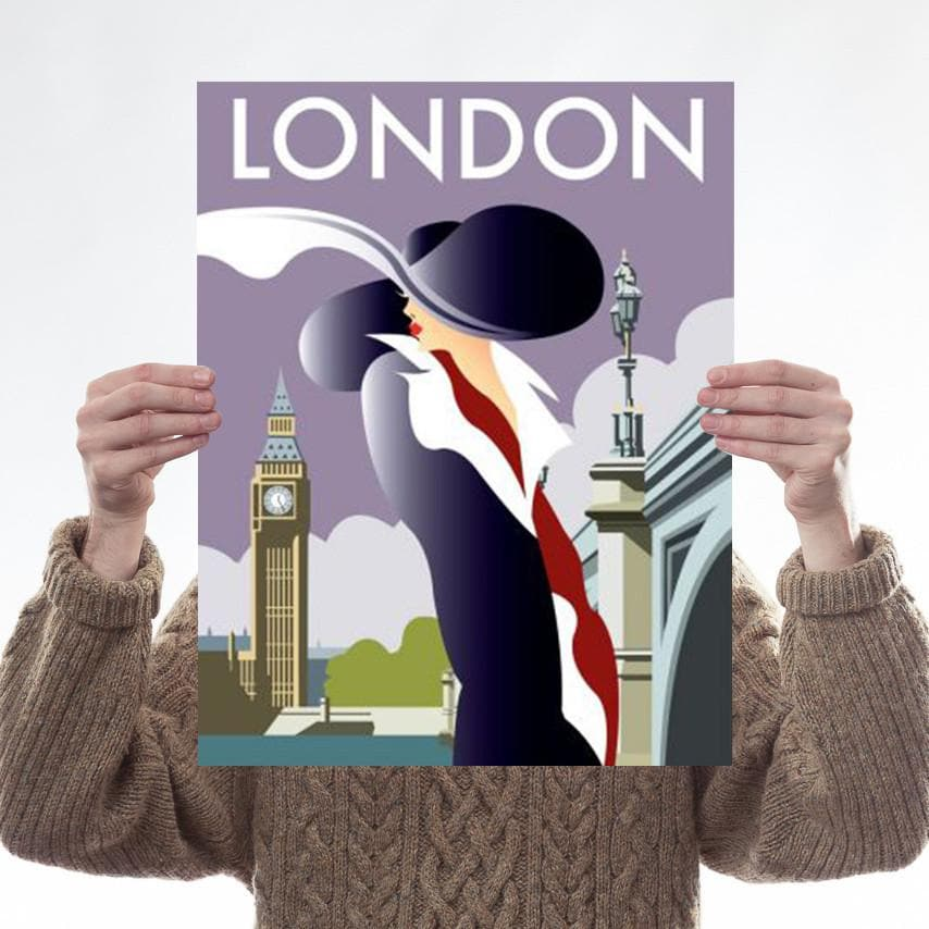 London Art Deco Woman Art Lifestyle Dave Thompson for We Built This City 1