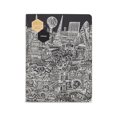 London illustrated Graphic Large Notebook