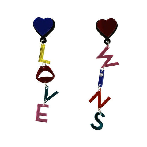Love Wins Letter Earrings