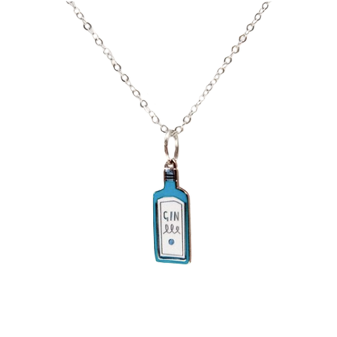 Blue Gin Necklace