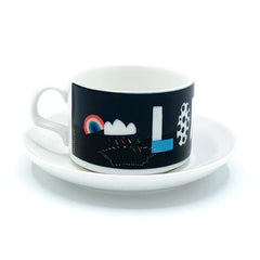 london typography nichola cowdery letters mug cup saucer for We Built This City 2