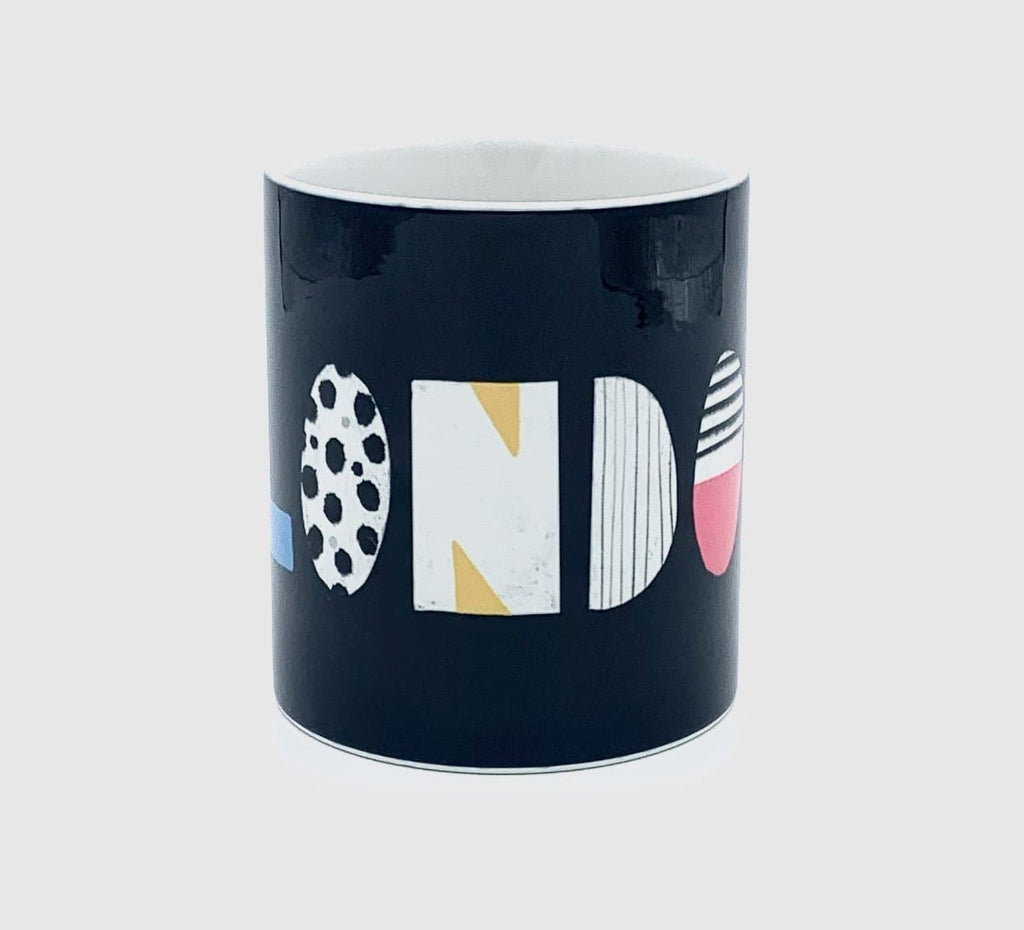 london typography nichola cowdery letters mug cup for We Built This City 3