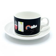 london typography nichola cowdery letters mug cup saucer for We Built This City 4