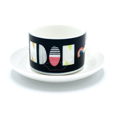 london typography nichola cowdery letters mug cup saucer for We Built This City 3