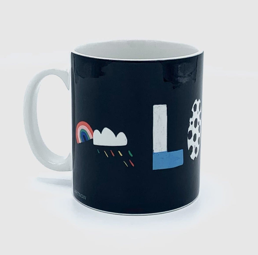 london typography nichola cowdery letters mug cup for We Built This City 2