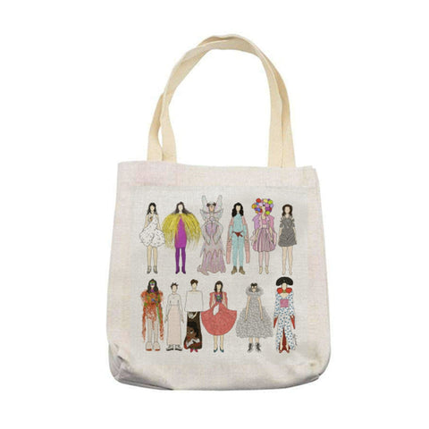 bjork costume dress tote linen bag 90s