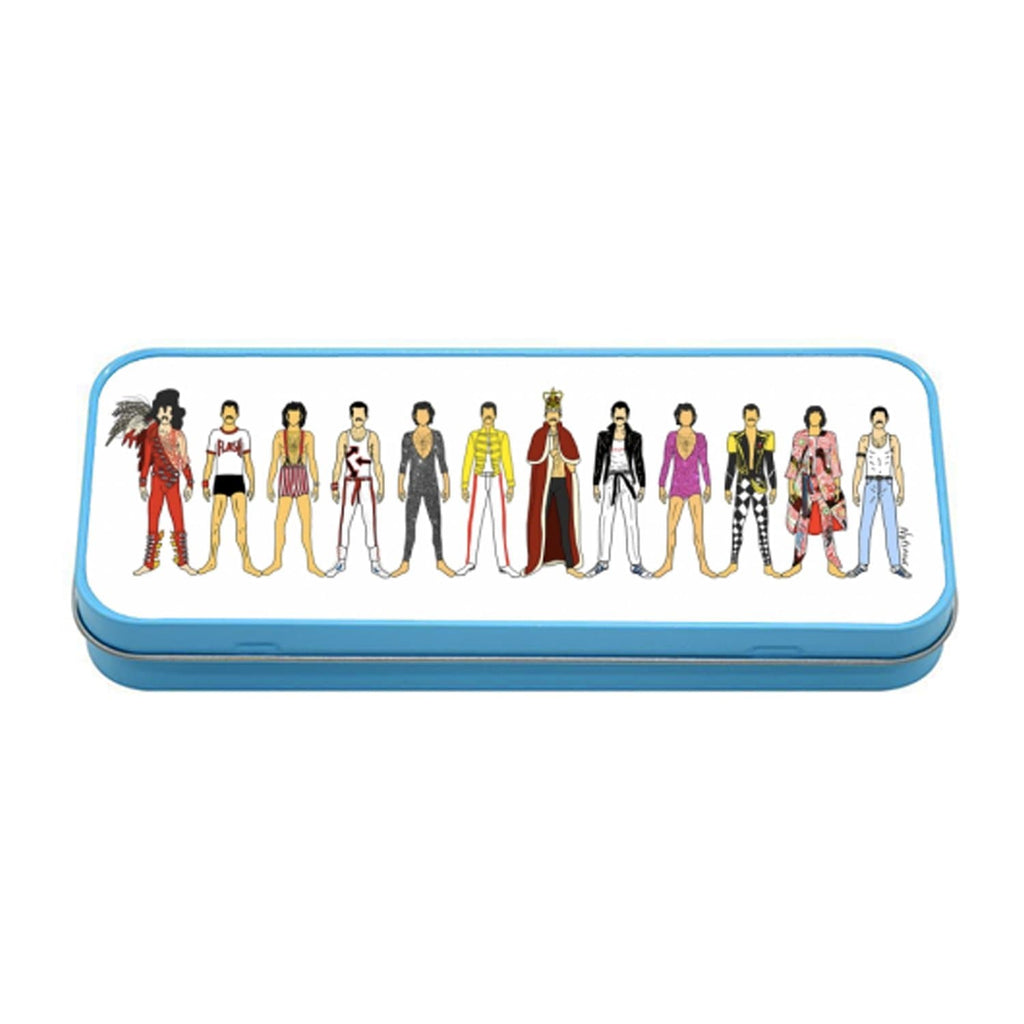 Freddie Mercury Pencil Tin Stationery - Pencil Cases + Tins Notsniw Art for We Built This City 1
