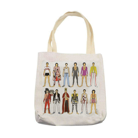 freddie mercury queen live aid break free bohemian rhapsody we will rock you tote bag linen