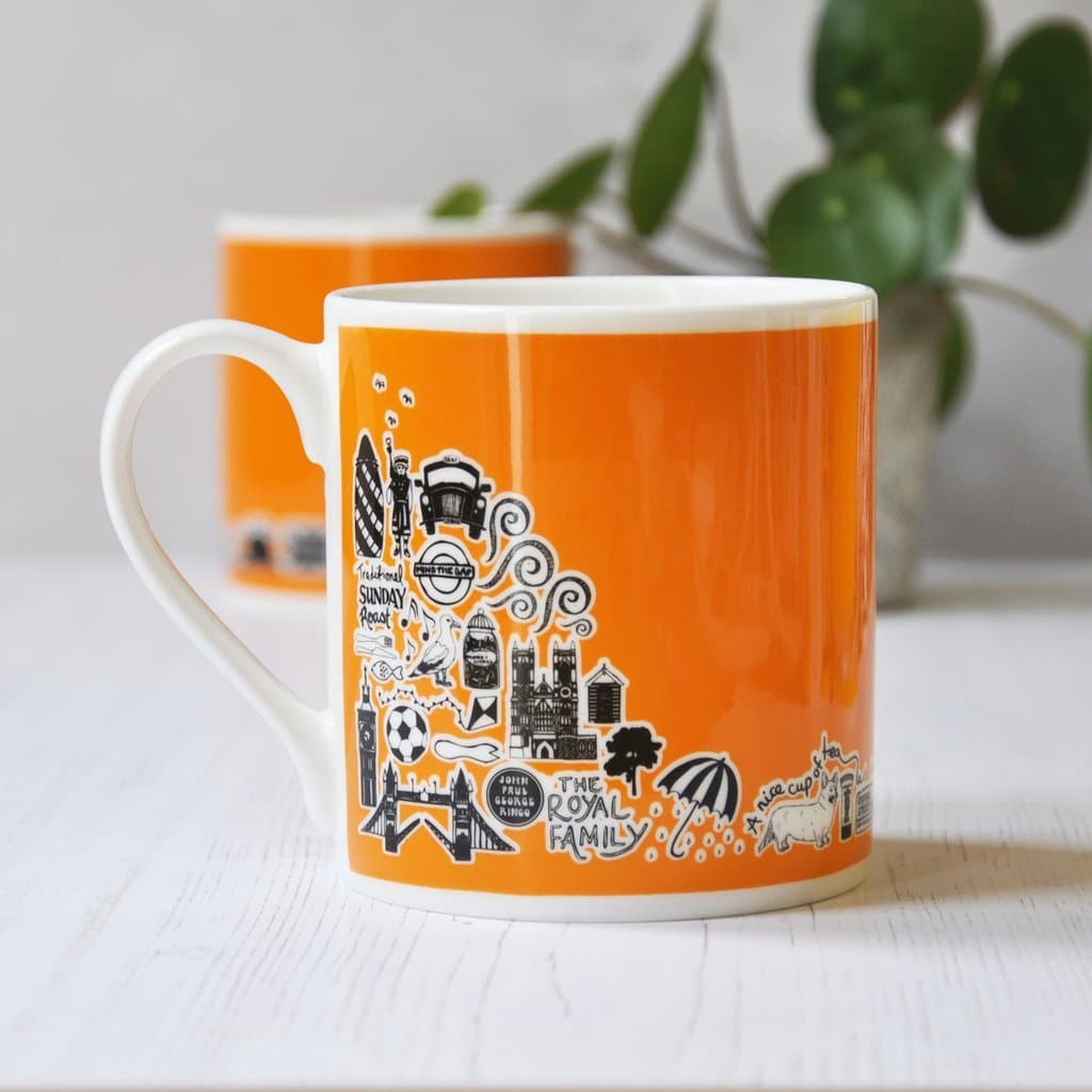 Orange British Mug Ceramics - Drinking Vessels Martha Mitchell for We Built This City 2