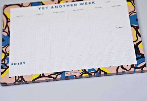Inky Flowers Weekly Planner Pad Stationery & Craft - Calendars + Diaries The Completist for We Built This City 3