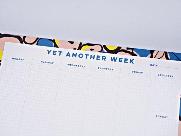 Inky Flowers Weekly Planner Pad Stationery & Craft - Calendars + Diaries The Completist for We Built This City 4
