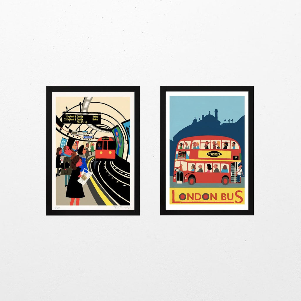The Tube & London Bus - Set of 2 Art Icons Paul Thurlby for We Built This City 1