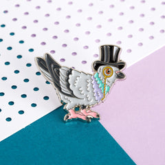 London Pigeon Enamel Pin