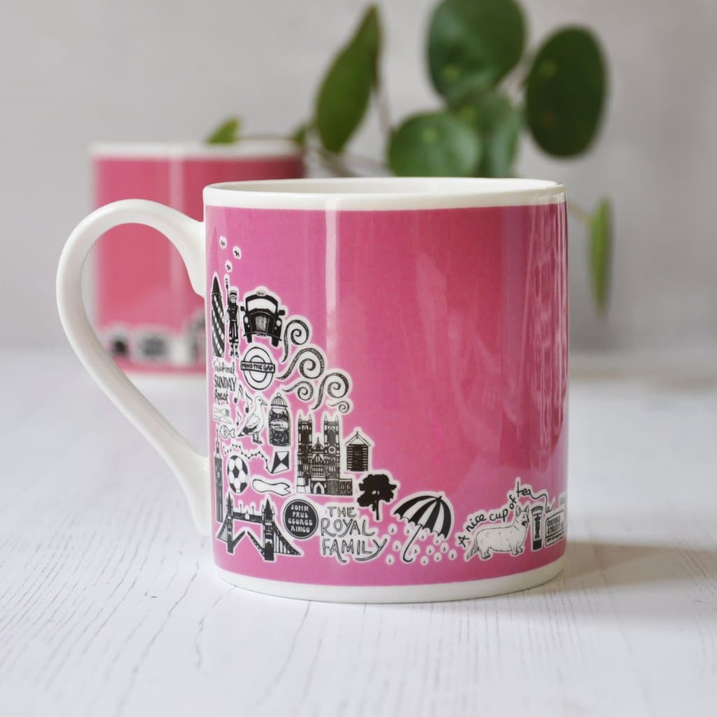 Pink British Mug Ceramics - Drinking Vessels Martha Mitchell for We Built This City 2